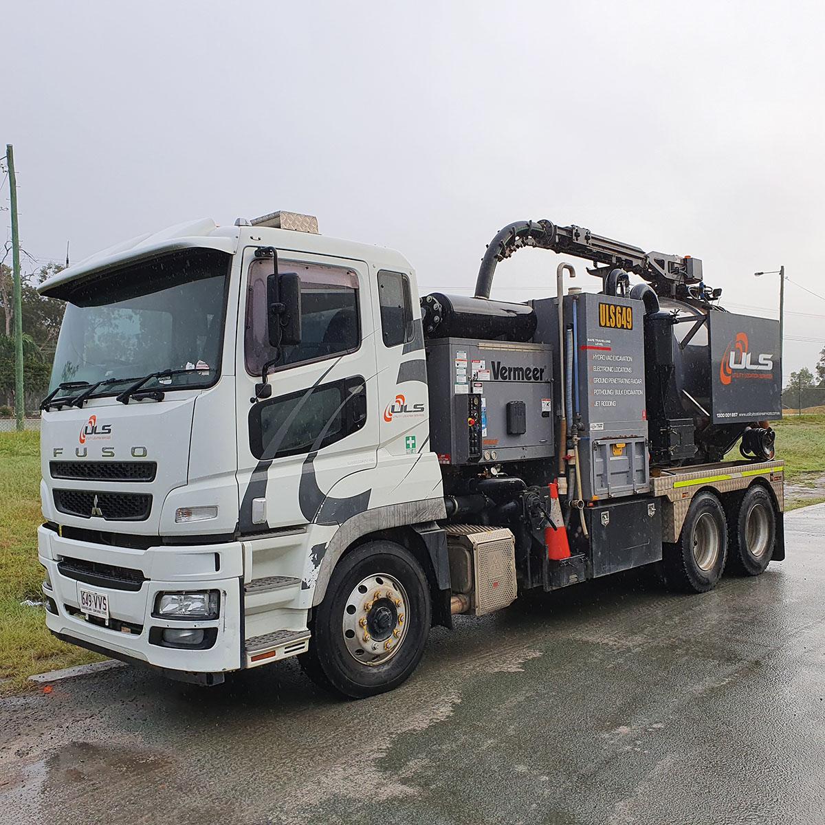 1200 hi cfm 6000 litre vac truck hire gold coast brisbane